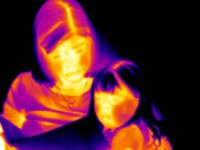 photo of infrared people